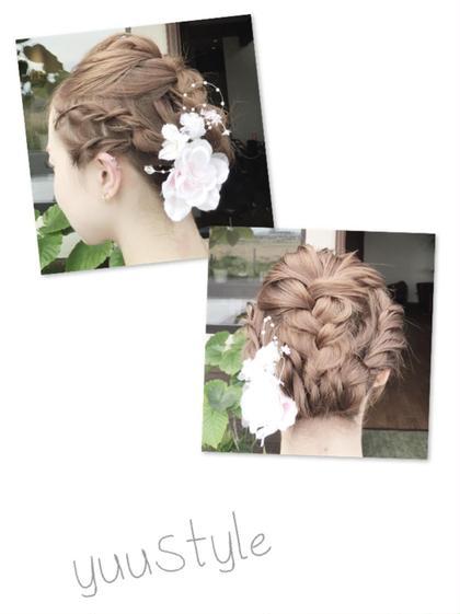 ヘアアレンジです( ^ω^ )!✨ 長さは、ボブくらいのヘアです! innocent×hairdesign所属・suwayuukaのスタイル