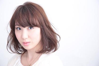 ナチュラルなカラーと 柔らかい雰囲気のボブスタイル LOVELEY所属・古川洋一郎のスタイル