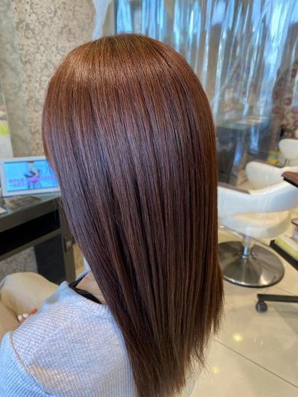 カット+アルカリカラー+髪質改善ASIAトリートメント(メンズ🆗)