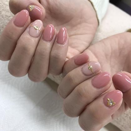 ネイル ピンク&ピンク╰(*´︶`*)╯♡