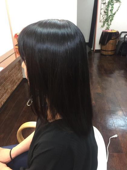 脱 縮毛矯正をやめたい方→酸熱トリートメントプレックスメントによる髪質改善→矯正の代わりに軽いくせ毛や広がり緩和します。