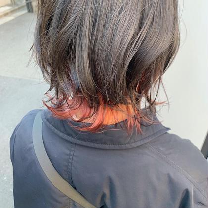 💛裾カラーでこっそりオシャレ💛 毛先ブリーチ+毛先カラー+トリートメント