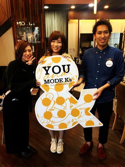 いつもありがとうございます^_^   Hair&make MODE K's 松原店所属・永井勇樹のスタイル