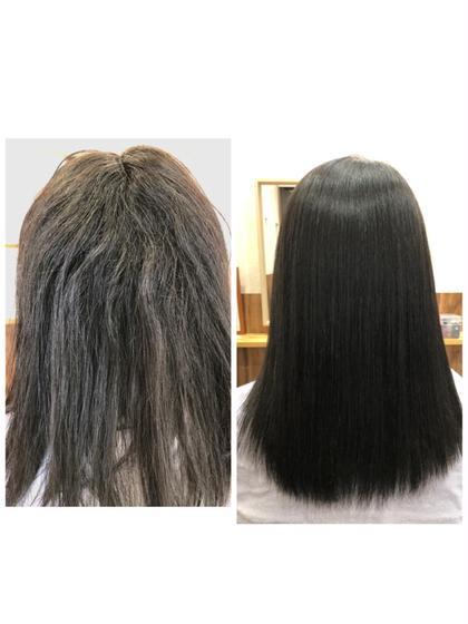 髪質改善ストレート カット込み 毎朝のお手入れが楽になる❗️+炭酸泉シャワー