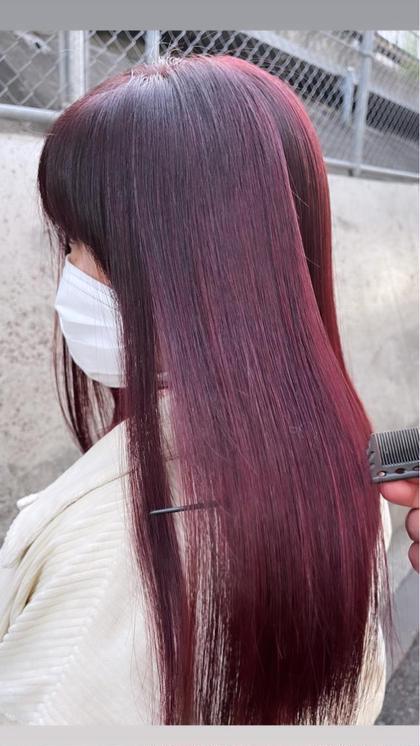 本日ご来店の1名さま限定✨高発色カラー(イルミナ、イゴラ、アドミオ対応)&ケアトリートメント¥5500