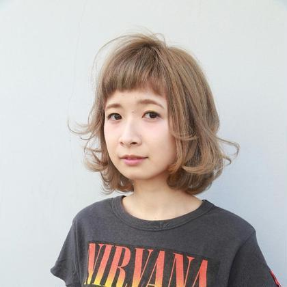 ホワイティアッシュでふんわりやさらかさを☆ tranq hair design所属・イケベミホのスタイル