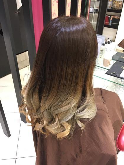 究極グラデーションカラー✨ 1回の毛先ブリーチとオンカラーで素敵なスタイル♪ hair&make earth   大船店所属・大澤優樹のスタイル