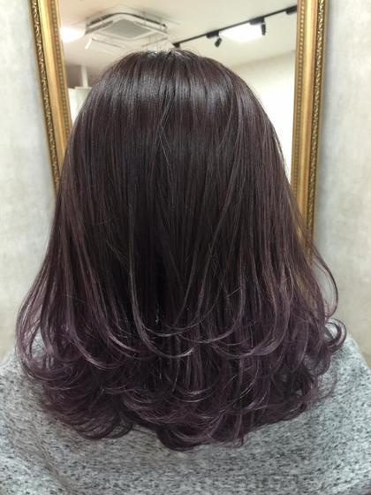 カラー ショート ミディアム シアーアメジストグラデーション★   ブリーチ毛先2〜3回は必要です☀︎