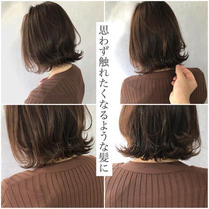 【今話題🌿】透明感イルミナカラーorアディクシー+骨格修正カット+選べるトリートメント❤️髪色、髪質改善❤️