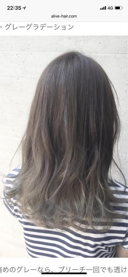 ‼️透明感あるグレージュに…‼️ファイバープレックスブリーチハイライト+イルミナカラー+ぷる艶トリートメント+前髪カット