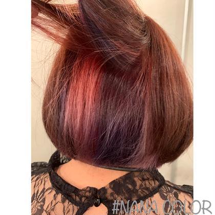 インナーカラーにピンクと紫💖🔮