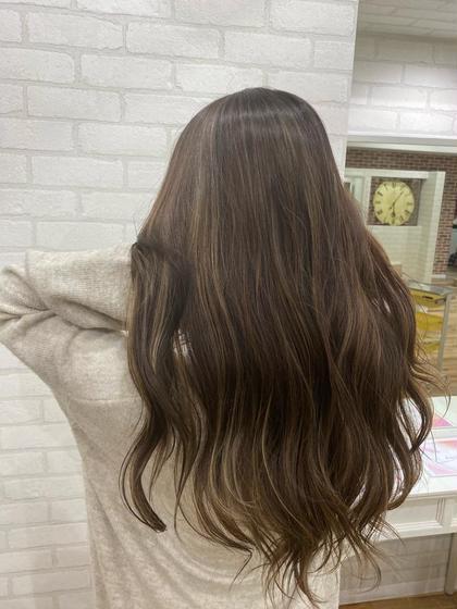 🌸ご新規様限定🌸全頭フルカラー+ハイライト入れ放題+Aujua髪質改善トリートメント🥰
