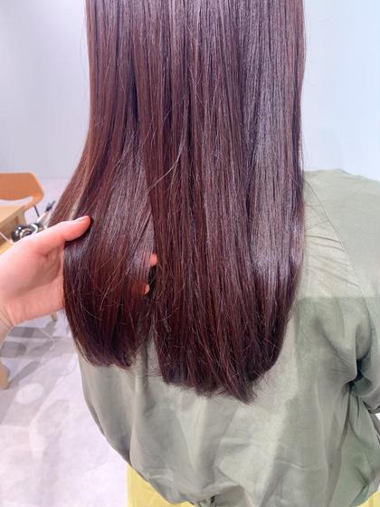 ✨人気No.5💗レッド/オレンジ/ピンク/ラベンダーカラー×Aujuaダメージケアトリートメント💗 【カラーモデル】