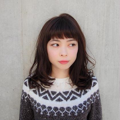 レイヤーを入れた軽いセミロング☆ Her所属・奈良昂拓のスタイル