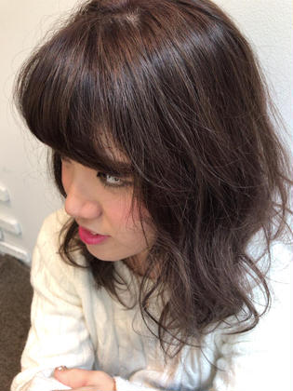 イルミナカラーのオーキッド! 艶が抜群です! hairdesignBEER渡辺通店所属・濱田凌のスタイル