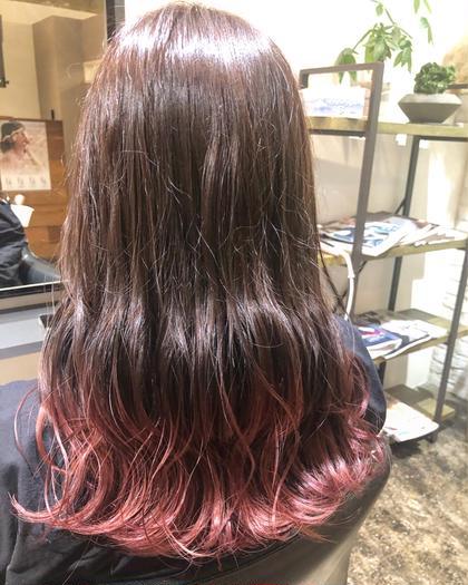 ⭐ハイトーン⭐ワンブリーチ&艶カラー&髪質改善トリートメント