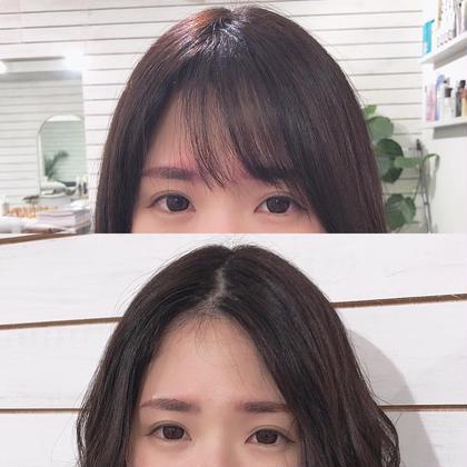 🌈魔法の前髪シールエクステ(20本)➕カラー➕カット➕スチームプチスパ付