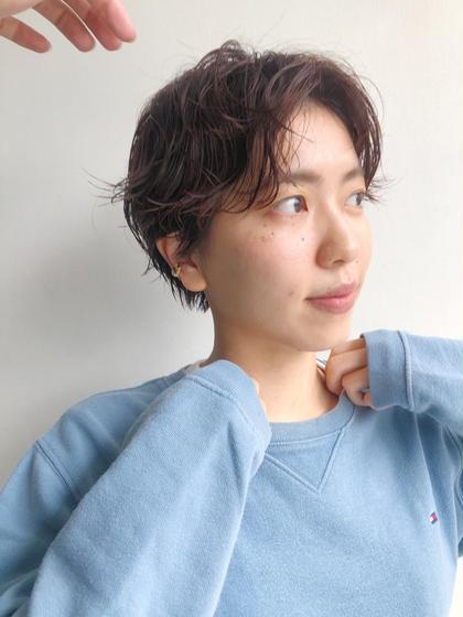 【🔹大人気🔹】カット➕パーマ   癖毛風パーマ ショートカット ショートヘア ニュアンスパーマ