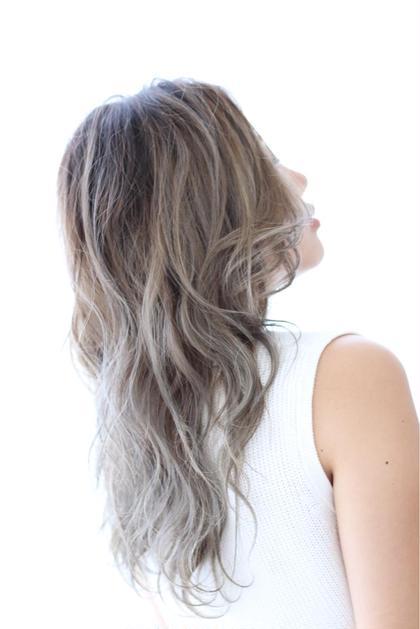 これぞ外国人風カラー!! グラデーションにしているので根本多少伸びてきても綺麗なままです\( ˙▿˙ )/ HAIR DELIGHT所属・中島栞のスタイル