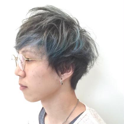 カラー メンズ ブルーアッシュ