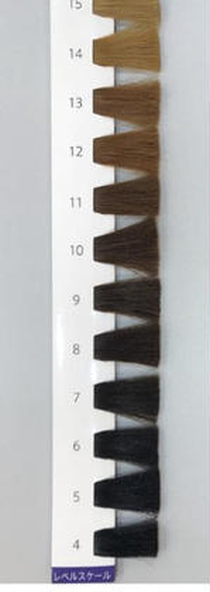 カラーのレベルスケールです。 美容室F-MOO所属・鍋島奈美のスタイル
