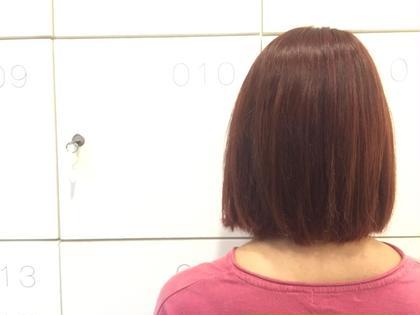 ブリーチ毛 ワインレッド色にしました ABBEY2所属・saekoiizukaのスタイル