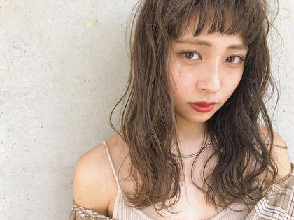 【人気No.1】イルミナカラー+カット+クイックTr(アディクシーカラー変更可能)巻き仕上げOK!! 6500円