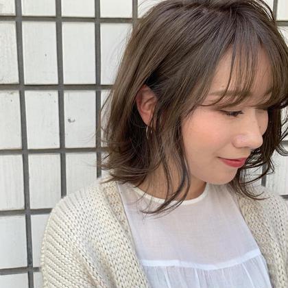 今季の春夏にオススメなstyle▽ アッシュ過ぎないベージュがかわいい▽ フリーランス美容師所属・豊浦翔太のスタイル