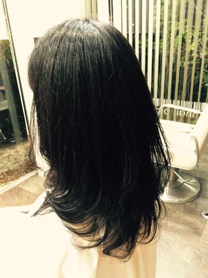 ワンカールのニュアンスパーマです♡ ウエットでウエーブスタイルを楽しむのもOKです(^^)♡ Bloom hair所属・馬止美佳のスタイル
