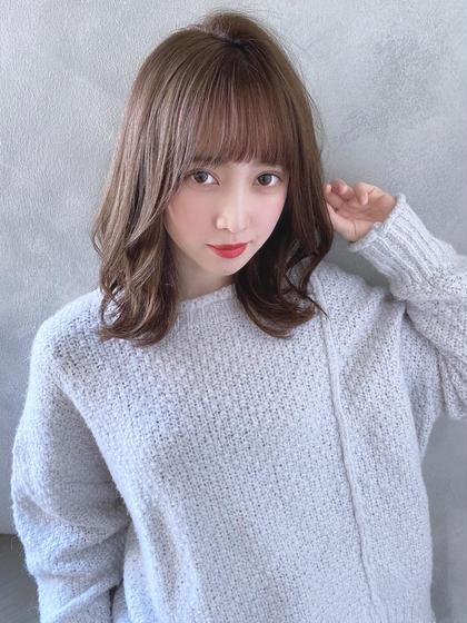 ❤️人気No.3❤️ ゆるふわカット+透ける美髪カラー+毛髪再生型トリートメント(高濃度炭酸ケア&アルカリ除去剤付)