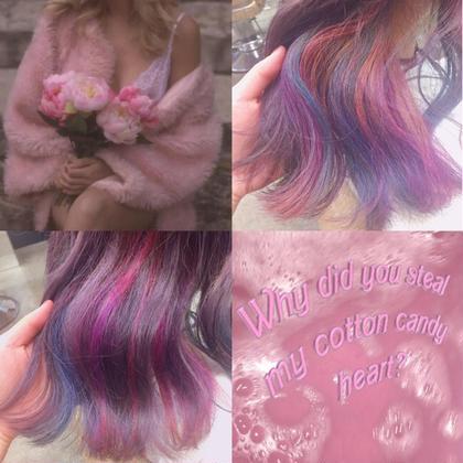 pink × blue × lavender フリーランス美容師所属・🎀miyu/ピンク×ラベンダーのスタイル