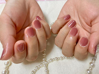 自爪に優しいパラジェル、ジェルの持ちにこだわったネイル✨美ワンカラー✨