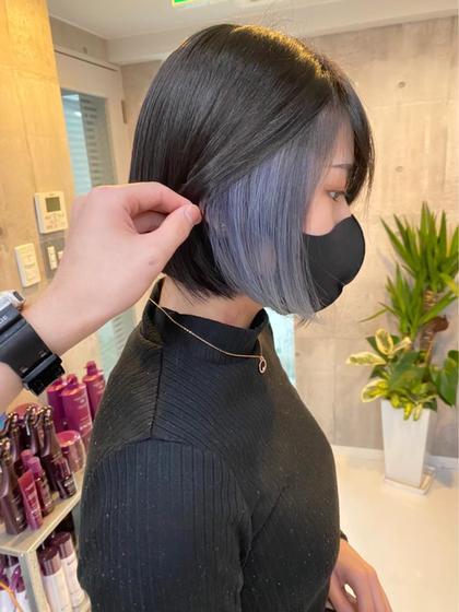 💅お洒落女子人気No.1💅 インナーカラー(ケアブリーチ込み)+透明感カラー+シルクトリートメント