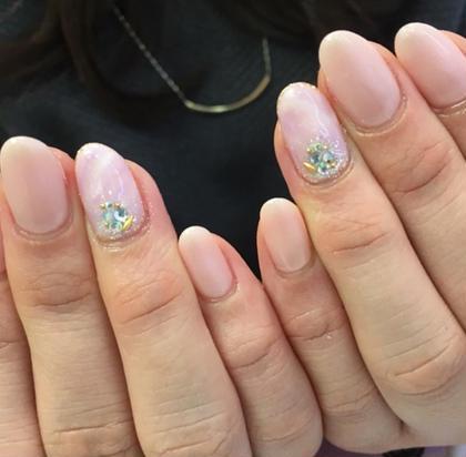 ショート ネイル ミディアム ふんわりピンク♡春ネイル増えてきてます♪ ¥5,500
