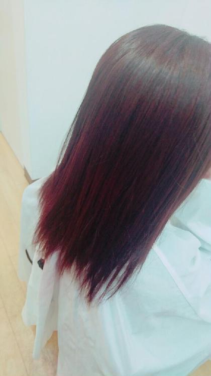 ダークトーンのレッドピンク♡ hair&make POSH所属・梶谷実里のスタイル