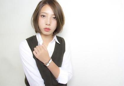 ショートボブです♡伸ばし中の方でも扱いやすいスタイルです(^^) Allie所属・園田早耶のスタイル