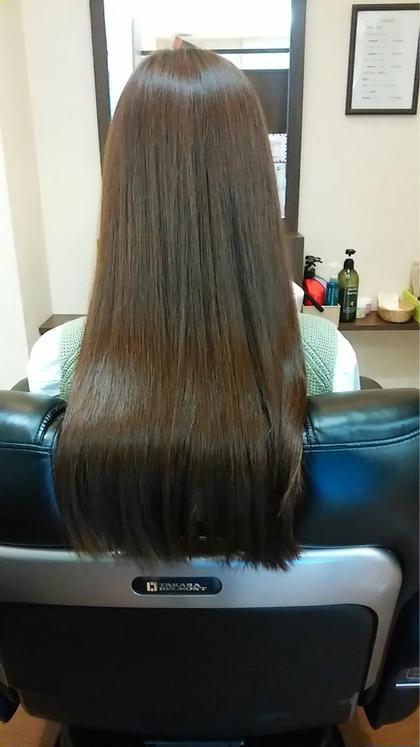 カラーをしながら髪を修復☆ 艶カラーです^^* ClearTimes所属・福山敦子のスタイル