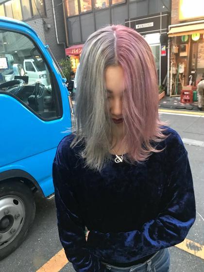 pail grey×pail pink♡  原宿、韓国での美容師経験を活かし  原宿×韓国スタイル♡  イメ写はもちろん韓国アイドルでした♡  (BLEACH回数は髪質によって異なります!1BLEACHにつき4000円) MU所属・waizumiryoのスタイル
