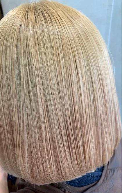 最高級✨髪質改善縮毛矯正+カット+ナノミスト+内部補修トリートメント❗️ダメージヘア、ブリーチヘアもサラサラヘアに⭐️