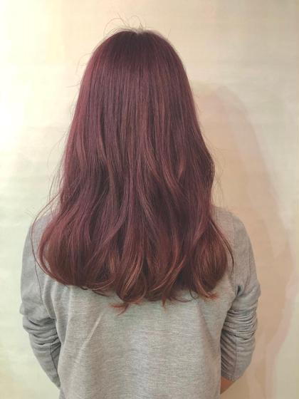その他 カラー ロング この髪色にするにはブリーチ必須です!🌼 ピンクバイオレットなので抜ける時にオレンジ色にならず白っぽく抜けていきます!😁☀️