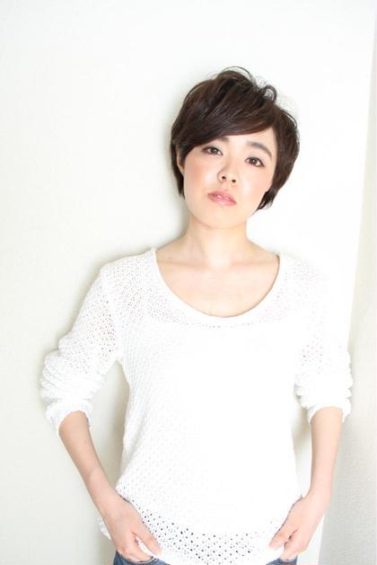 ショートスタイル☆彡カラーは暗めのアッシュ系に♪ ALTIINTERNATIONAL所属・平山昌代のスタイル