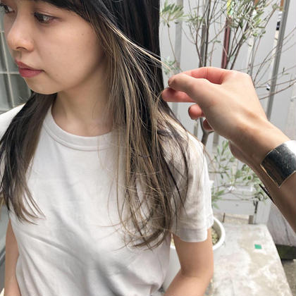 【人気NO.3♪】外国人風ハイライトorシークレットインナーカラー&全体を希望の色に&クイックトリートメント ¥9900