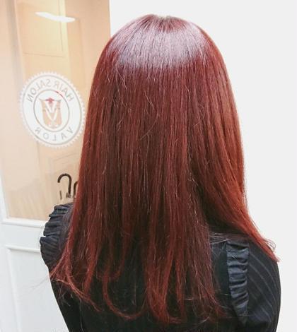 レッドバイオレット ブリーチなし 1カラー Hair Salon Valor 所属・渡辺康行のスタイル