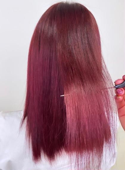 ️ 【透明感ある髪 カラーによる髪ダメージ97%減少 】🍒イルミナダブルカラー+トリートメント🍒