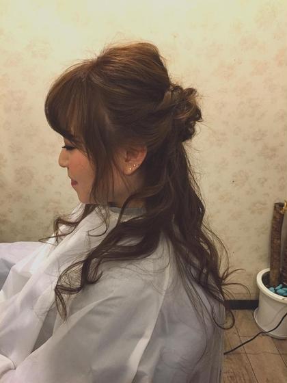 ハーフアップ!10分簡単アレンジです!  vira   hair所属・大石ゆかのスタイル