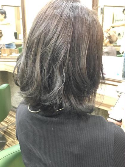 グレー 外ハネミックス Hair Salon Be-one所属・タナカリクのスタイル