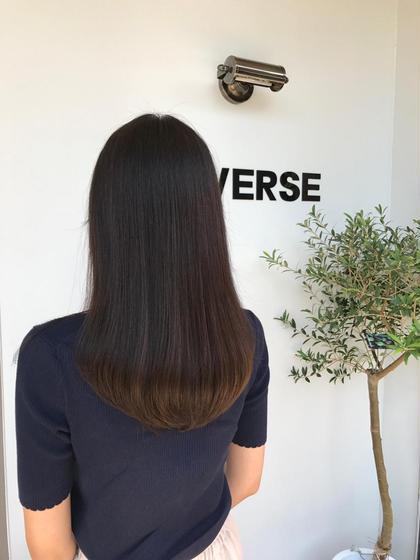 カラー 梅雨に広がりやすい髪でお悩みの方にオススメコース😊  サラツヤ髪になれますよ〜❤️