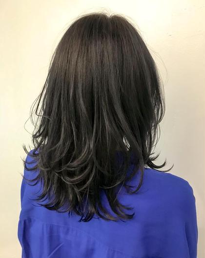 カラー ▽暗髪ネイビーブラック▽   ブリーチしていて明るい色に飽きてしまった方!! 黒だけど黒じゃない! しっかりトーンダウンするから色持ちもいいです◎