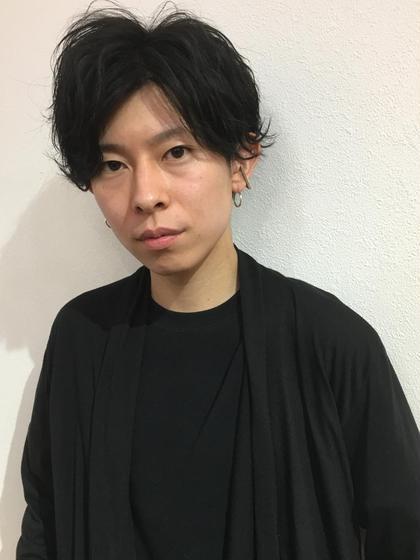 束感×外ハネ 新井裕也のメンズヘアスタイル・髪型