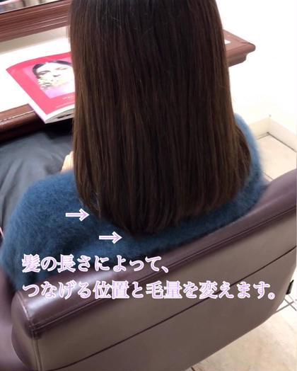 その他 カラー キッズ セミロング パーマ ヘアアレンジ メンズ パーマ毛がまとまるようになる、肩に当たってもハネない、やや前上がりのロングボブ。